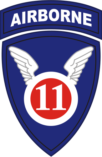Coat of arms (crest) of the 11th Airborne Division Angels, US Army