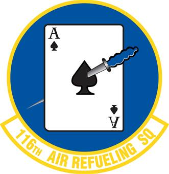 Coat of arms (crest) of the 116th Air Refueling Squadron, Washington Air National Guard