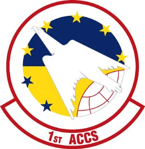 Coat of arms (crest) of the 1st Airborne Command and Control Squadron, US Air Force