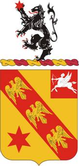 Coat of arms (crest) of the 11th Field Artillery Regiment, US Army