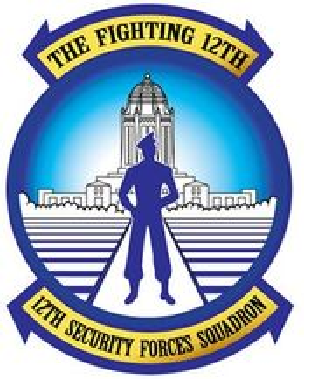 Coat of arms (crest) of the 12th Security Forces Squadron, US Air Force