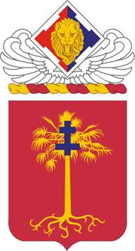 Coat of arms (crest) of the 320th Field Artillery Regiment, US Army