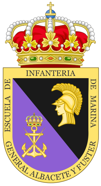Coat of arms (crest) of the Naval Infantry School, Spanish Navy