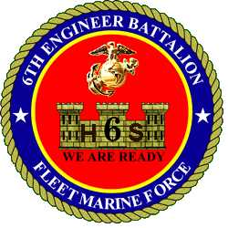 Coat of arms (crest) of the 6th Engineer Support Battalion, USMC