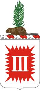 Coat of arms (crest) of the 3rd Engineer Battalion, US Army