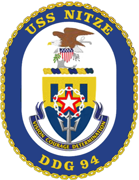 Coat of arms (crest) of the Destroyer USS Nitze (DDG-94)