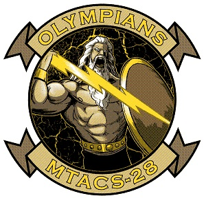 Coat of arms (crest) of the MTACS-28 Olympians, USMC