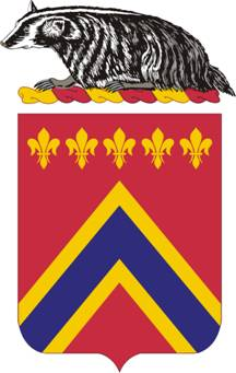 Coat of arms (crest) of the 120th Field Artillery Regiment, Wisconsin Army National Guard