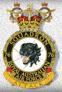 Coat of arms (crest) of the No 76 Squadron, Royal Australian Air Force