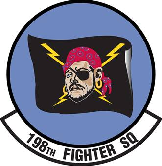Coat of arms (crest) of the 198th Fighter Squadron, Puerto Rico Air National Guard