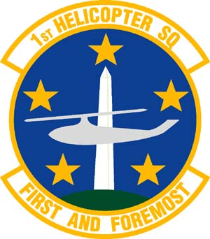 Coat of arms (crest) of the 1st Helicopter Squadron, US Air Force