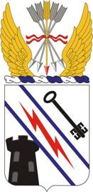 Coat of arms (crest) of the Special Troops Battalion, 3rd Brigade, 82nd Airborne Division, US Army