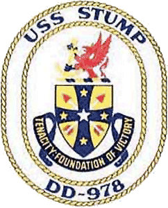 Coat of arms (crest) of the Destroyer USS Stump (DD-978)