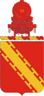 Coat of arms (crest) of the 52nd Air Defense Artillery Regiment, US Army
