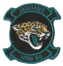 Coat of arms (crest) of the Helicopter Maritime Strike Squadron 60 (HSM-60) Jaguars, US Navy