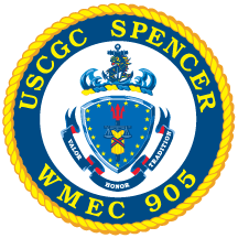 Coat of arms (crest) of the USCGC Spencer (WMEC-905)