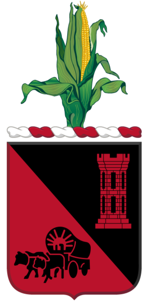Coat of arms (crest) of the 128th Engineer Battalion, Nebraska Army National Guard
