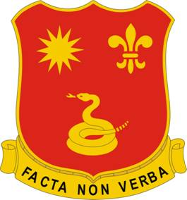Arms of 143rd Field Artillery Regiment, California Army National Guard