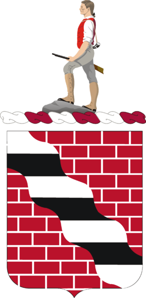 Coat of arms (crest) of the 463rd Engineer Battalion, US Army
