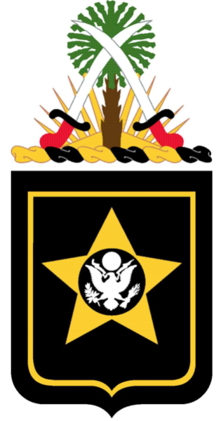 Coat of arms (crest) of the 15th Finance Battalion, US Army