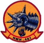 Coat of arms (crest) of the HMH-461 Iron Horse, USMC