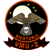 Coat of arms (crest) of the VMU-2 Night Owls, USMC