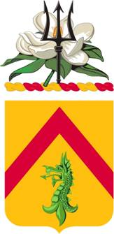 Coat of arms (crest) of the 198th Armor Regiment, Mississippi Army National Guard