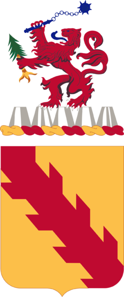 Coat of arms (crest) of the 32nd Cavalry Regiment (formerly 32nd Armor), US Army