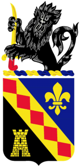 Coat of arms (crest) of the 215th Finance Battalion, US Army