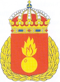 Coat of arms (crest) of the Artillery Combat School, Swedish Army