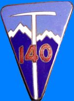 Coat of arms (crest) of the 140th Alpine Infantry Regiment, French Army