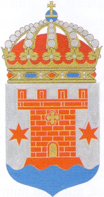 Coat of arms (crest) of the HMS Kalmar, Swedish Navy