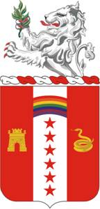 Coat of arms (crest) of the 150th Field Artillery Regiment, Indiana Army National Guard