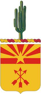 Coat of arms (crest) of the 180th Field Artillery Regiment, Arizona Army National Guard