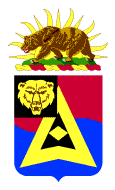 Coat of arms (crest) of the 40th Finance Battalion, California Army National Guard