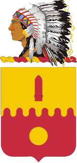Coat of arms (crest) of the 160th Field Artillery Regiment, Oklahoma Army National Guard