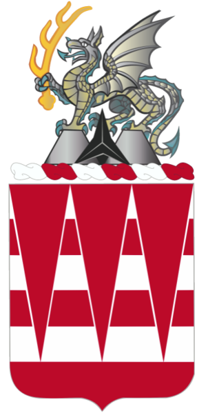 Coat of arms (crest) of the 63rd Engineer Battalion, US Army