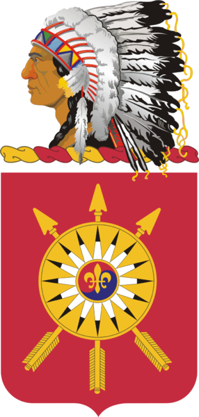 Coat of arms (crest) of the 171st Field Artillery Regiment, Oklahoma Army National Guard