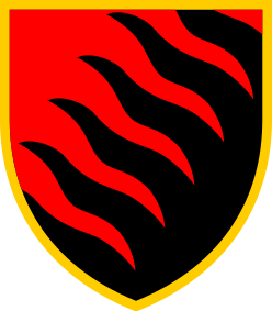 Coat of arms (crest) of the 55th Artillery Brigade Zaporizka Sich, Ukrainian Army