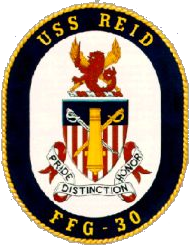 Coat of arms (crest) of the Frigate USS Reid (FFG-30)