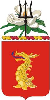 Coat of arms (crest) of the 114th Field Artillery Regiment, Mississippi Army National Guard