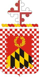 Coat of arms (crest) of the 224th Field Artillery Regiment, Maryland Army National Guard