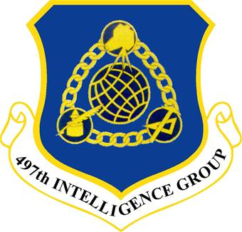 Coat of arms (crest) of the 497th Intelligence Group, US Air Force