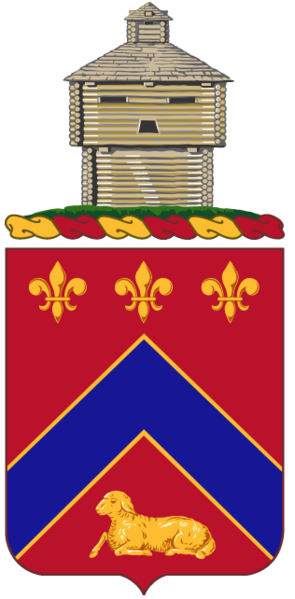 Coat of arms (crest) of the 123rd Engineer Battalion, Illinois Army National Guard