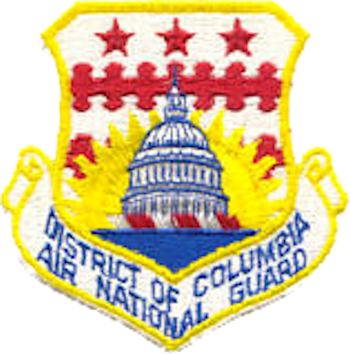 Coat of arms (crest) of the District of Columbia Air National Guard, US