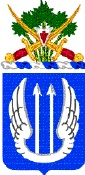 Coat of arms (crest) of the 11th Aviation Regiment, US Army