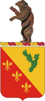 Coat of arms (crest) of the 129th Field Artillery Regiment, Missouri Army National Guard