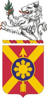 Coat of arms (crest) of the 163rd Field Artillery Regiment, Indiana Army National Guard