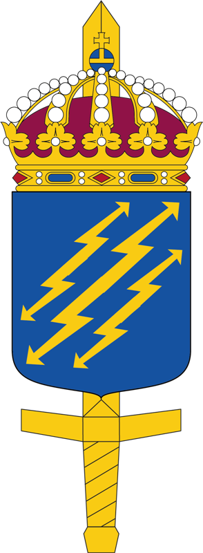 Coat of arms (crest) of the Defence Forces Telecommunications and Information Systems Unit, Sweden