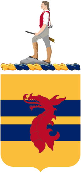 Coat of arms (crest) of the 318th Cavalry Regiment, US Army